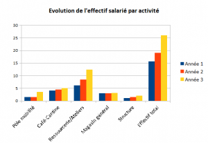 Graph evolution nbre salaries par activite